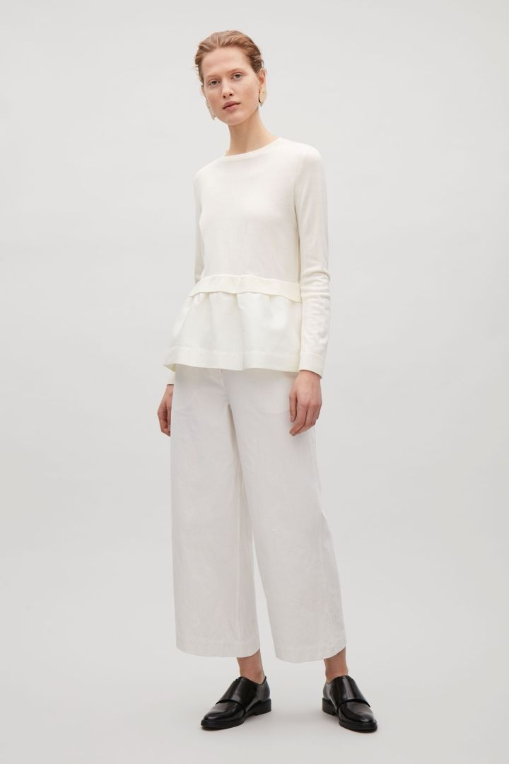 COS | Knitted top with woven skirt