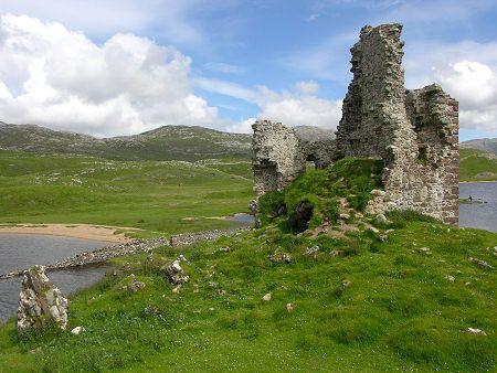 Ardvreck Castle Set Against the Sutherland Landscape