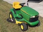 """Ready to Mow GOOD HOOD John Deere LT133 Lawn Tractor 13HP 38"""" Deck Just Serviced"""
