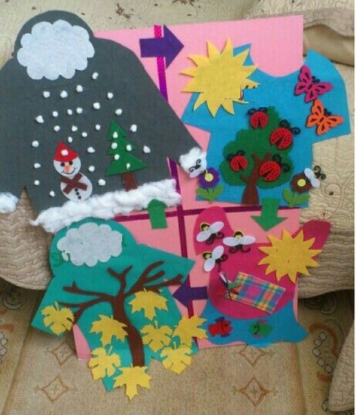 Winter Craft Ideas For Preschoolers Spring Kids Summer Idea Children Autumn Preschool Four Seasons And