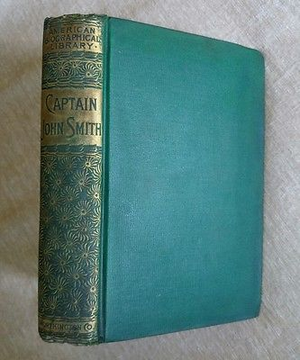 Captain John Smith George Canning Hill RARE 1888 Biography Decorative Green  | Books, Antiquarian & Collectible | eBay!