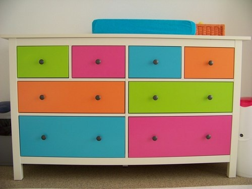Painted hemnes chest. I used it in the nursery when my son was little and now it is just for storage. Still love it!