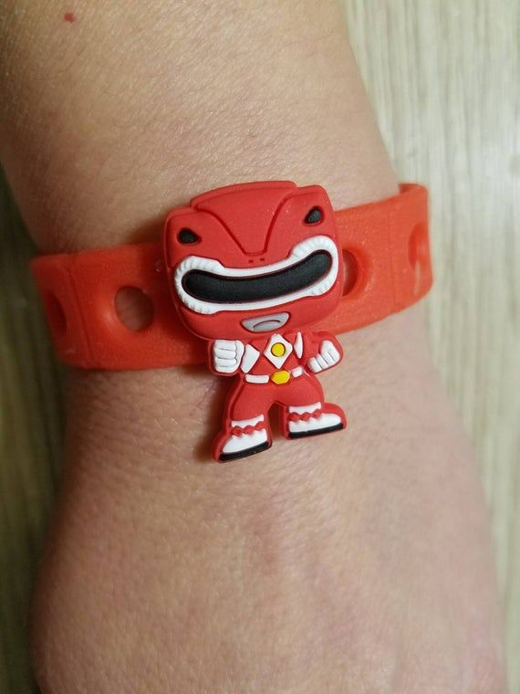 10 Power Rangers   Silicone  Necklaces