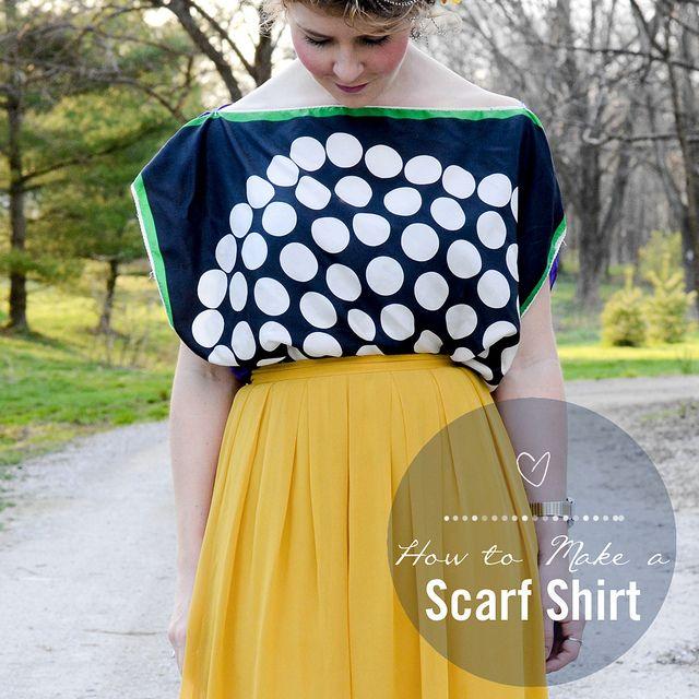 How to Make a Scarf Shirt by Stacie Stacie