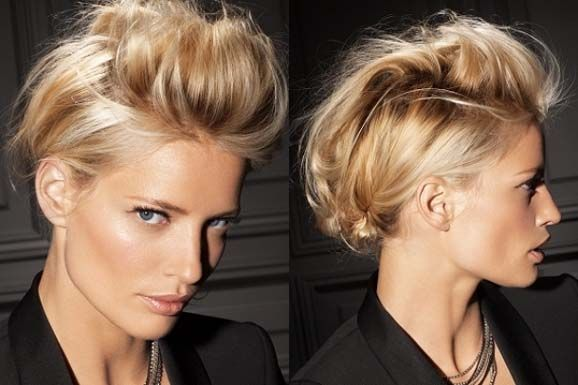 Long Updo Hair Style. Would be a cool soft and feminine style with and undercut or mohawk
