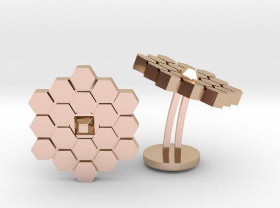 Custom James Webb Space Telescope Satellite Cufflinks | | Personalized Gifts For Him | Engraved Cufflinks | Geek Wedding | Science Jewelry