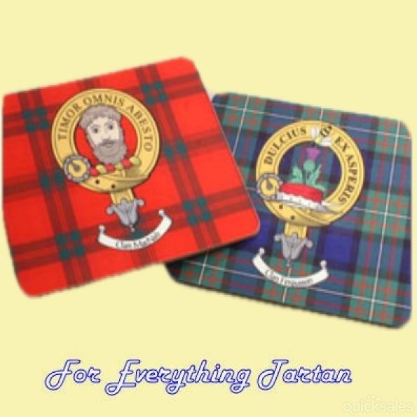 Clan Crest Tartan Badge Wooden Placements Set of 4 by JMB7339 - $60.00