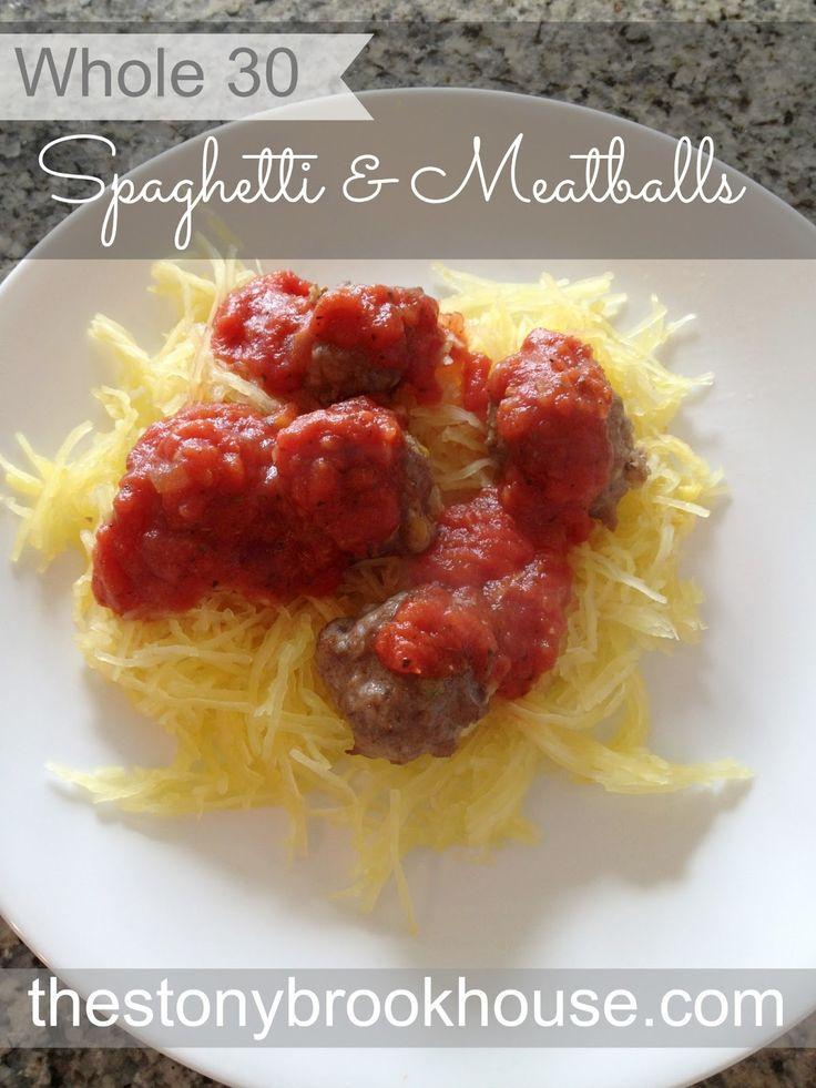 The Stonybrook House: Whole 30 Spaghetti and Meatballs  Whole30'compliant tomato sauce recipe