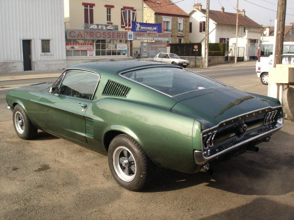 "1968 Mustang GT390 ""Bullit"".  If you drive this car, you automatically turn into Steve McQueen."