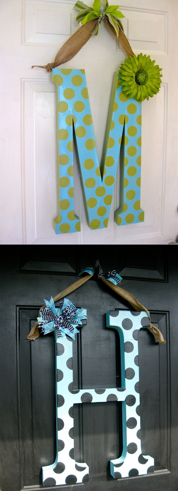 Letter Wreath Etsy 24 Inch Paper M229;ch233; Polka Dot Letter Wreath Polka By