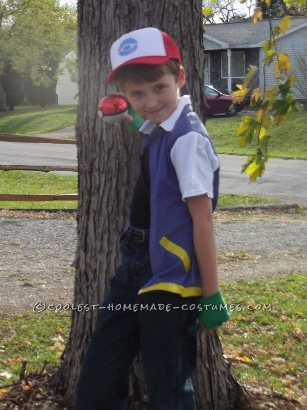 Homemade Ash Ketchum Pokemaster Costume... This website is the Pinterest of costumes