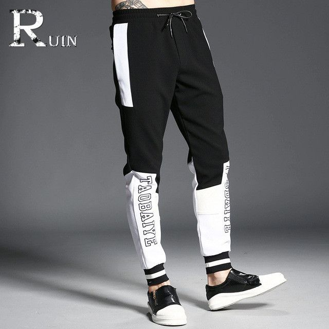 Hot Sale summer Men's Pants Casual Sweatpants men jogger Fashion youth Pants trousers Stitching quality printing 911-916
