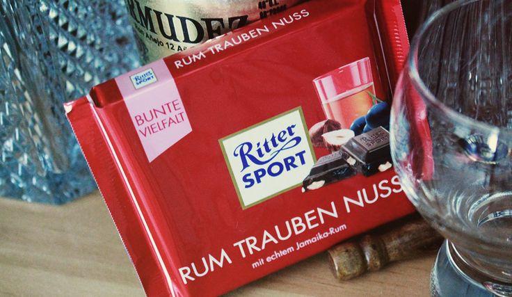 RITTER SPORT Rum Trauben Nuss Schokolade, Nuss und Sultaninen mit Jamaika Rum