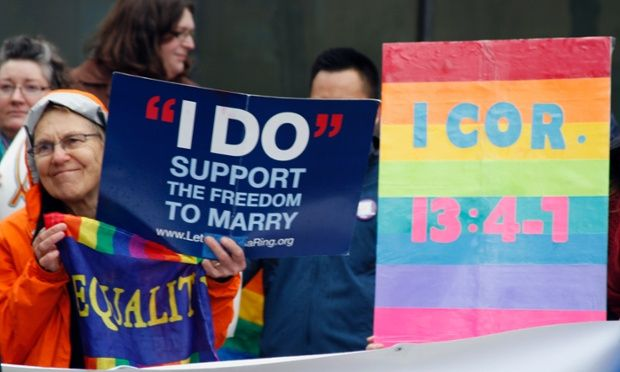 Alaska will begin accepting marriage applications from same-sex couples first thing on Monday, after a federal judge struck down the state's ban on gay marriage – the nation's first such ban approved by voters.  The decision on Sunday caught many people off guard. No rallies were immediately planned, but some plaintiffs celebrated over drinks at an Anchorage bar.
