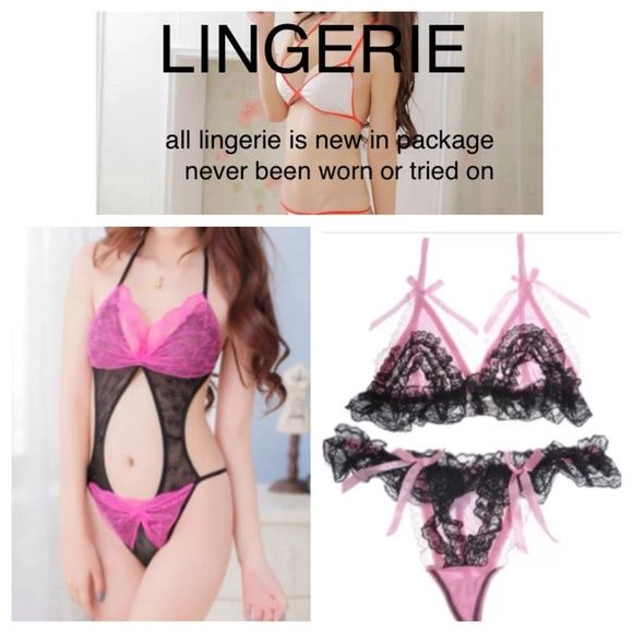 LINGERIE SETS All lingerie sets are new in package and have never been worn or tried on. Accessories