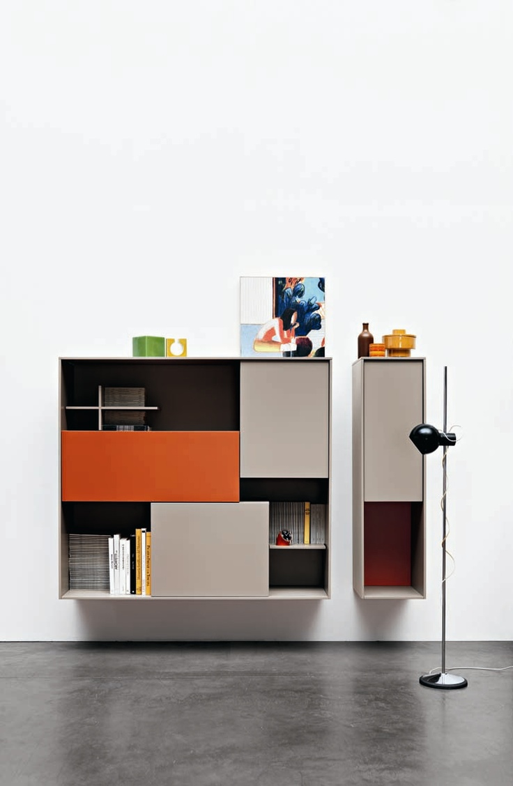 SECTIONAL STORAGE WALL C_DAY BY CESAR ARREDAMENTI | DESIGN GIAN VITTORIO PLAZZOGNA