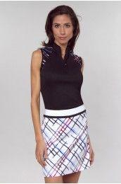 Greg Norman Bleecker Street Collection: Downtown Mod Print Women's Golf Skort-GN-G2F2H461 | PinksandGreens.com