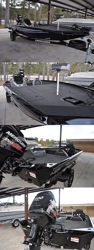 boats: 2017 Crestliner Pt20 Aluminum Bass Boat With A 200 Hp Mercury Proxs Optimax BUY IT NOW ONLY: $33495.0