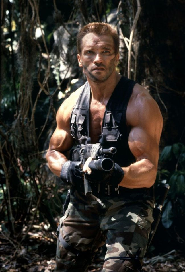 "Arnold Schwarzenegger as Major Alan ""Dutch"" Schaeffer in Predator (1987)"