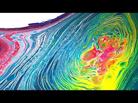 DIRTY SWIRL POUR Creating Fluid Art with Acrylic Pouring Technique NO SILICONE - YouTube