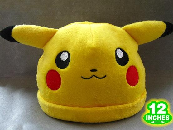 Pokemon Pikachu Hat Cap Anime Game Cosplay 12''. $14.99, via Etsy.