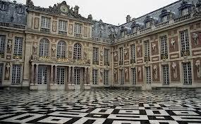 Marble courtyard of Versailles #Marie #Antonette #tiles
