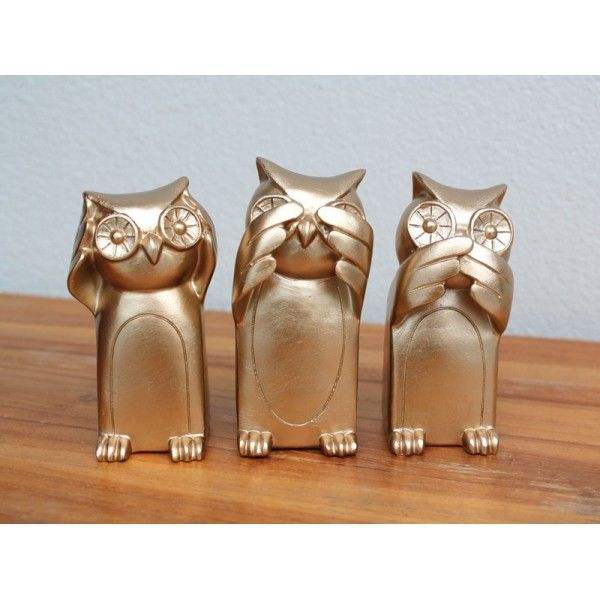 Three Wise Owls - Bronze Homewares Online