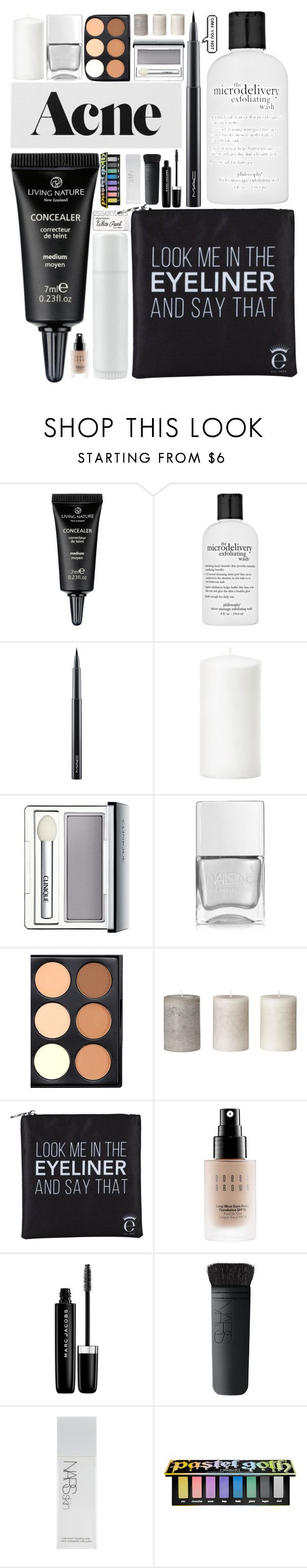 """~dont plant your flowers in peoples gardens when they don't water them"" by itsfashioninfinity on Polyvore featuring philosophy, MAC Cosmetics, Clinique, Nails Inc., Eyeko, Bobbi Brown Cosmetics, Marc Jacobs, NARS Cosmetics, Kat Von D and Paper Mate"