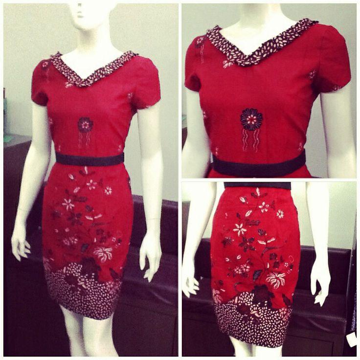 Red Tumpal Batik