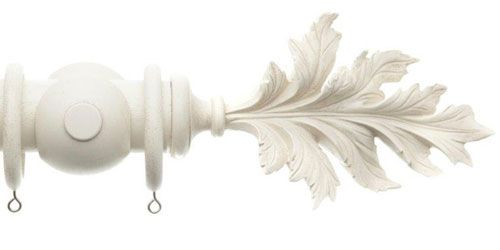 This is the Pamplemousse finial from Acanthus Vintage curtain poles at Pole Design. I Iove the organic quality of this finial. It would be great over a large window overlooking the garden. I could see this with taupe plain linen curtains or a cotton print.