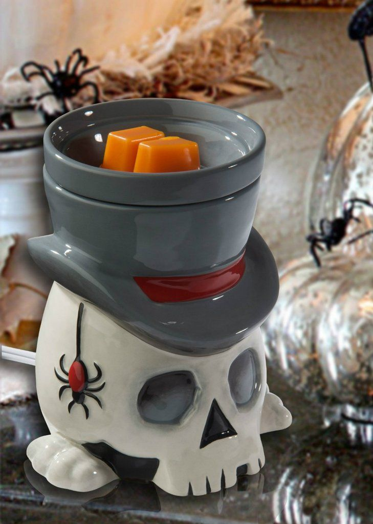 Full Size Wax Warmer Candle Electric Scented Melts Skull Warming Plate  Full Size Wax Warmer  www.bobbiejosonestopshop.com  #BobbieJosOneStopShop #Warmer #WaxMelts #Tarts #Skull #ScentedCubes