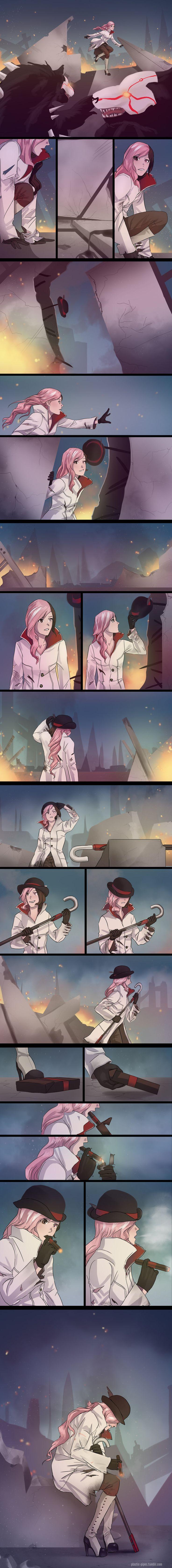 Cara isso é triste,não sei se a Neo está viva, mas depois que o Roman virou churrasquinho ela deve ter ficado por aí sozinha. Neo by plastic-pipes on DeviantArt