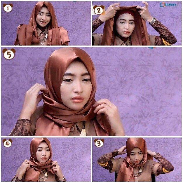Tutorial Hijab Pashmina Bahan Licin Simple 1000 Hijab Tutorial Turkish Hijab Style Hijab Fashion
