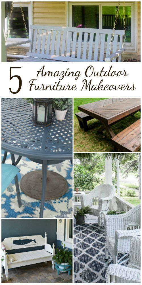 5 Best Outdoor Furniture Makeover Projects#furniture #makeover #outdoor #project...#furniture #makeover #outdoor #project #projectsfurniture