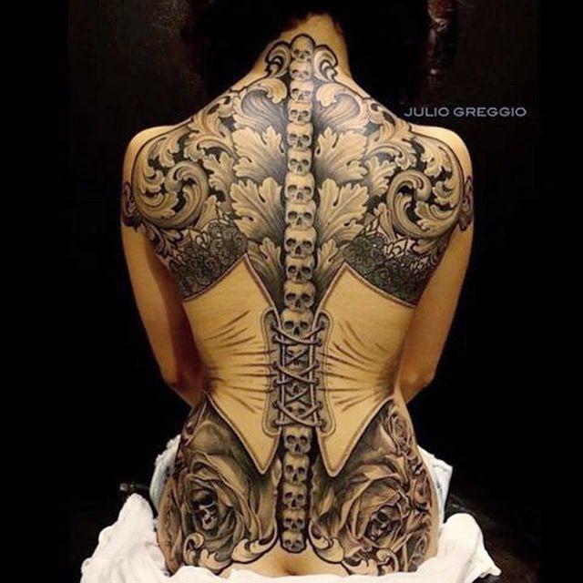 back tattoo by Julio Greggio