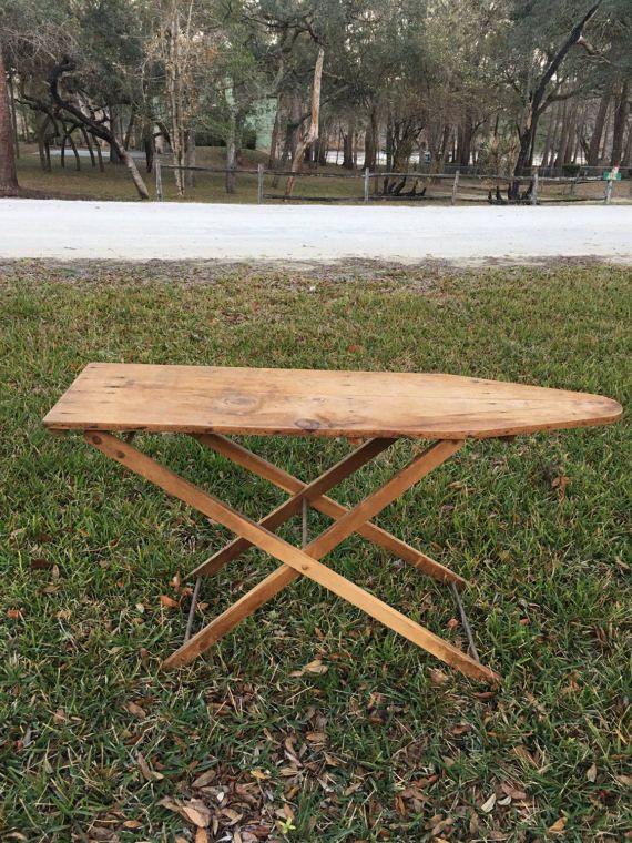 Wood Ironing Board Vintage Ironing Board Midcentury by MaggieBleus