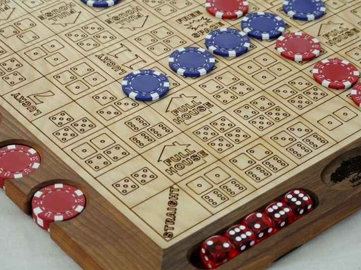 Dice poker wooden diy board craft sale crafts wooden
