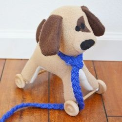 Convert any stuffed animal into a pull toy. The best part is, the wheels are remove-able, so the toy remains hug-able!