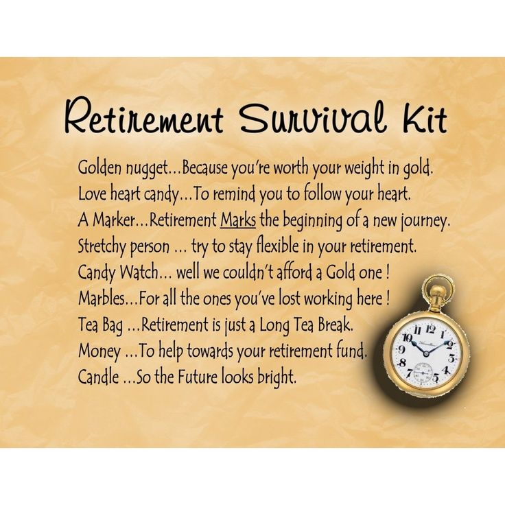 pinterest yellow retirement survival kit - Google Search