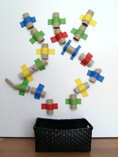 schaeresteipapier: Eine farbenfrohe Kugelbahn selber machen