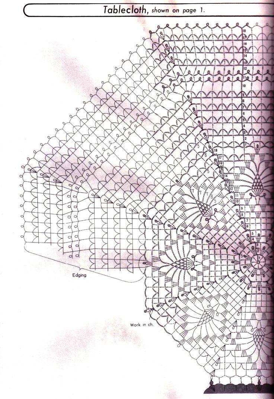 схема вязания скатерти 1.1