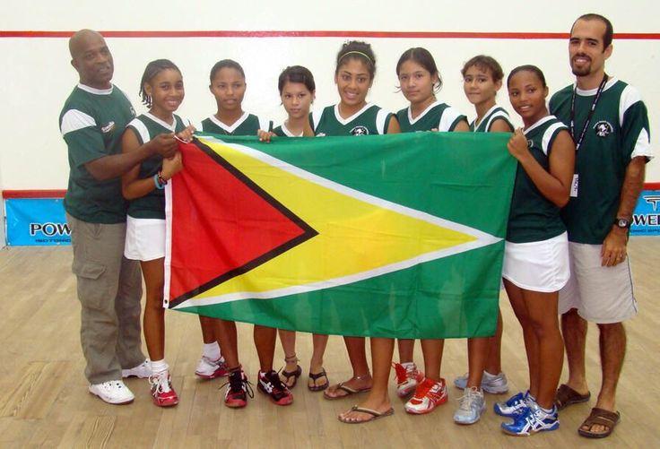 Guyana sports team ,Guyana flag.