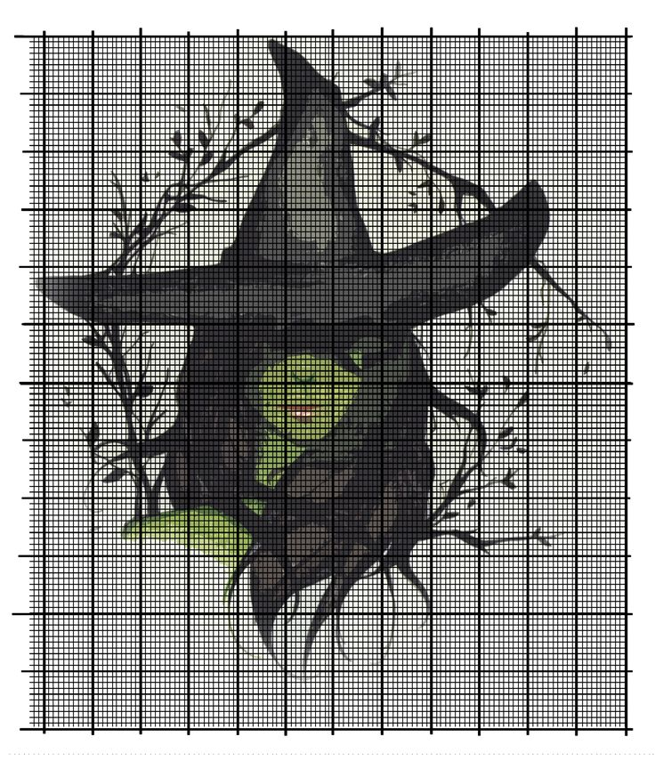 Elphaba (Wicked) cross stitch