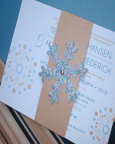 Snowflake Themed Wedding Invitations