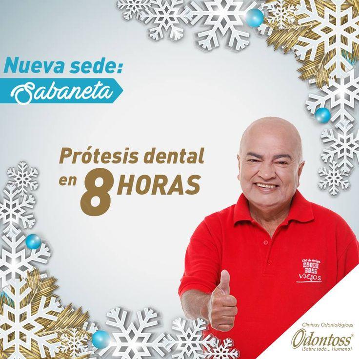 Gracias a nuestros laboratorios en cada una de nuestras sedes podemos entregar prótesis dentales en poco tiempo. Puedes agendar tu cita sin ningún costo 444 00 62 whatsapp: 3122284241.  www.odontoss.com  Sedes: Centro de Medellín, Rionegro, Laureles, Envigado, Bogotá y Sabaneta.