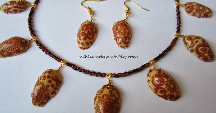 Hello!! today am sharing pistachio shells necklace ..I decoupage the pistachio shells with patterned tissue paper ..its the fist time am tr...