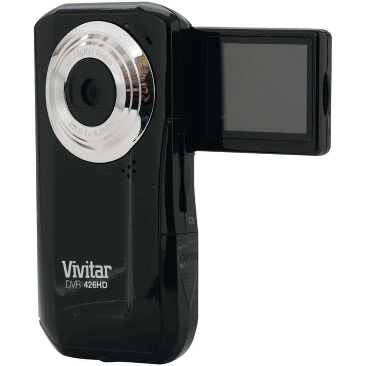 Vivitar VIVDVR426HDBLKV LIC Flip Digital Video Recorder Camera with 1.8-Inch LCD (Black) | My Canon Digital Camera