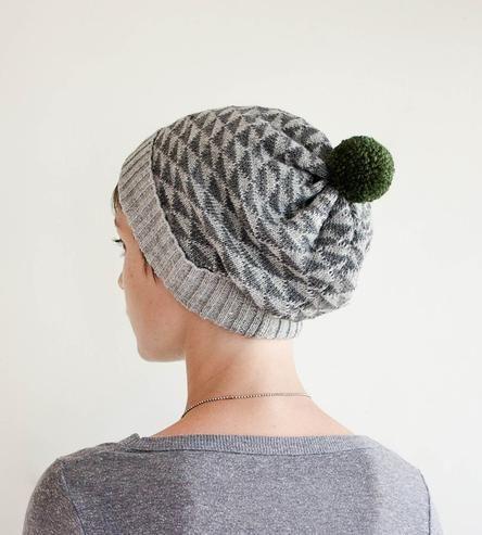 Triangle Wool Pom Pom Beanie Hat by Sourpuss Knits on Scoutmob Shoppe