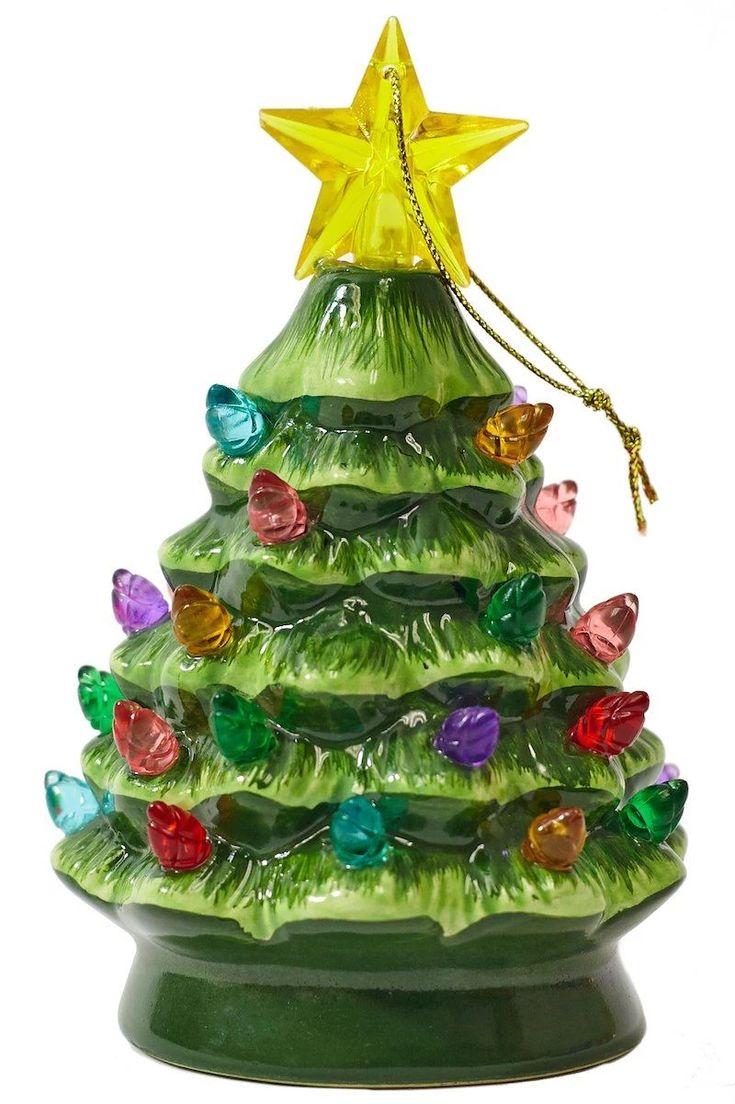 Green Nostalgic Ceramic Christmas Tree Ceramic christmas