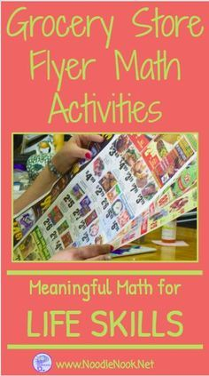 Store Flyer Math Activities from NoodleNook- Make Math Meaningful!